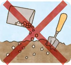 肥料は土壌に混ぜない!